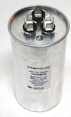 Room Air Conditioner Replacement Parts TitanPro TRCD8075 HVAC Round Dual Motor Run Capacitor. 80/7.5 MFD/UF 370 (What City Is Central Michigan In)