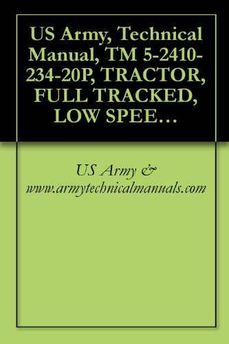 US Army, Technical Manual, TM 5-2410-234-20P, TRACTOR, FULL TRACKED, LOW SPEED, HEAVY DRAWBAR PULL, (SIZE T-11) W/ANGLE DOZER, WINCH AND ROPS; CATERPILLAR ... MODEL D8K-8S-8 (CCE) (2410-00-574-7598)