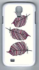 AZTEC FEATHERS Hard Cover Back Case For Samsung Galaxy S4,PC Fashion White Case for Samsung Galaxy S4 i9500