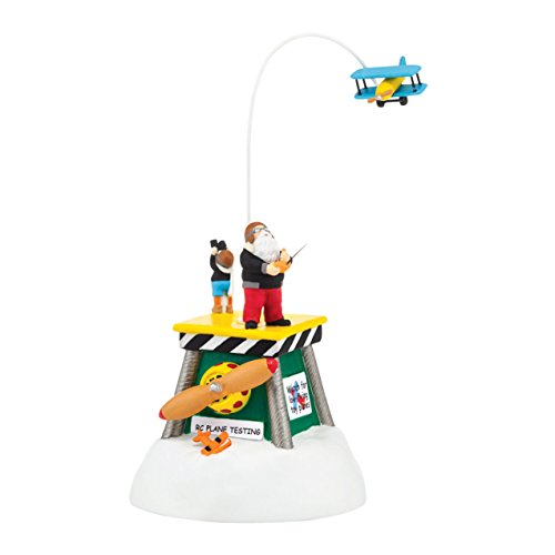 Department 56 North Pole Village Animated Flight Test, 5.91 inch