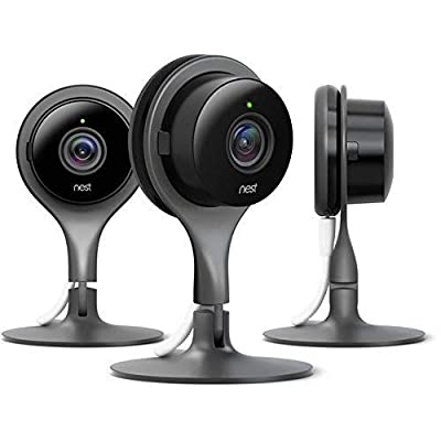 Nest Cam Security Camera 3 Pack Indoor Color: Black Style: Nest Cam Security Camera: 3 Pack, Model: NC1104US...