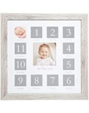 Kate & Milo Rustic Baby First Year Picture Frame, Woodland Nursery, Baby Gift