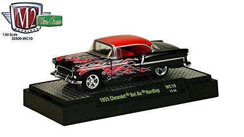 M2 Machines New 1:64 Wild-Cards Series 10 Assortment - Black 1955 Chevrolet BEL AIR Hardtop Diecast Model Car (Chevrolet Air Hardtop Bel)