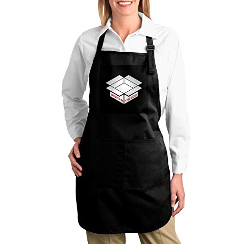 ANZIKEJI Se7en Whats in The Box Minimal Heavy Duty Canvas Work Apron,Tool Pockets, Back Straps Adjustable