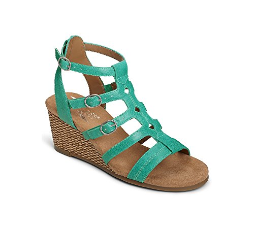 Aerosoles Women's Sparkle Wedge Sandal - Turquoise - 5 B(...