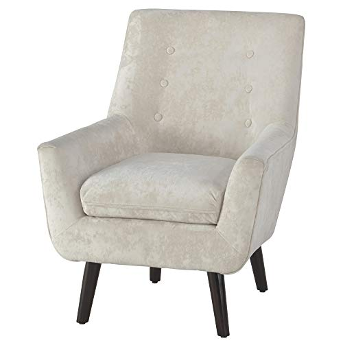 Signature Design by Ashley - Zossen Accent Chair - Contemporary Style - Ivory - Tufted Back (Rattan Chair White Bedroom)