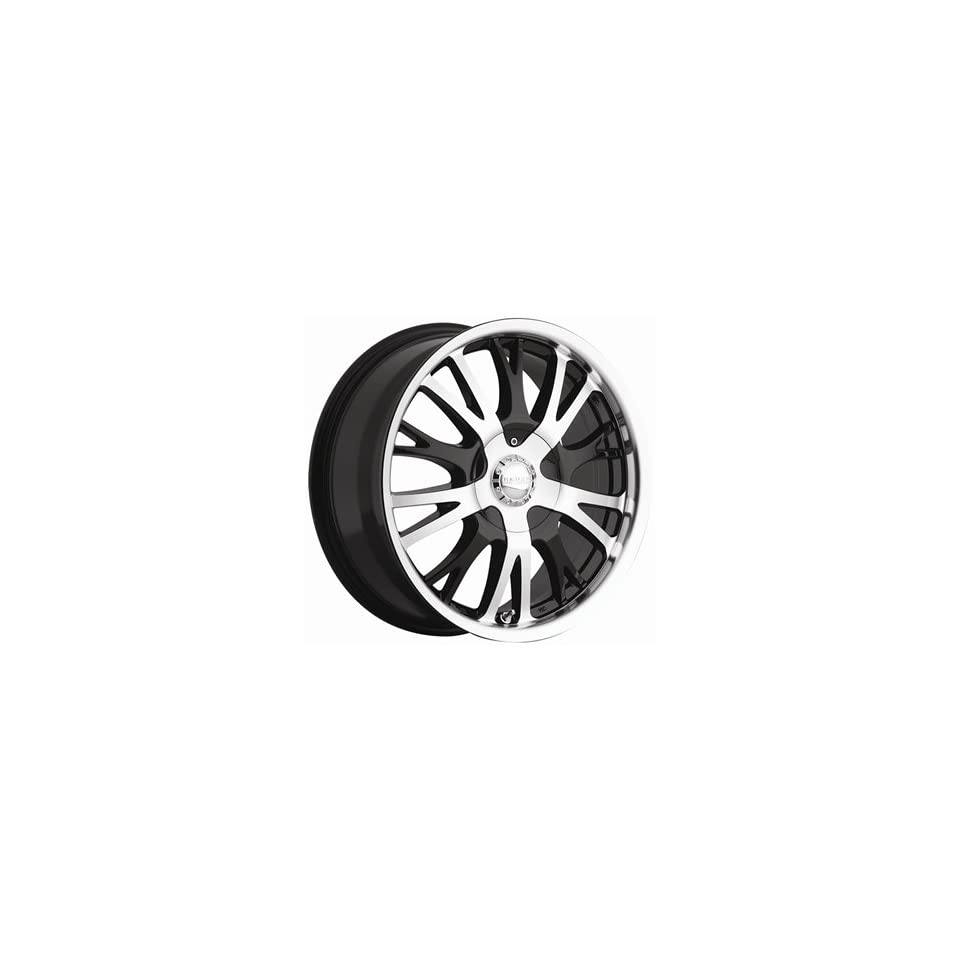 Akuza Drift 17x7.5 Machined Black Wheel / Rim 4x100 & 4x4.5 with a 45mm Offset and a 73.00 Hub Bore. Partnumber 455775810+45GBM