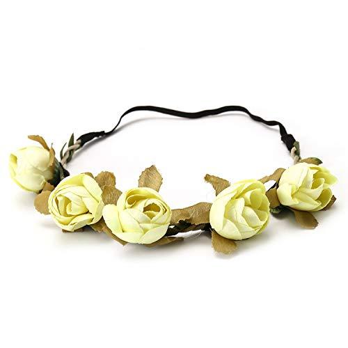 2019 Lady Girl Headband Floral Crown Flower Headband Wedding Party Hair Wreath Boho Sweet Princess Bridal Headdress,Antique Bronze Plated