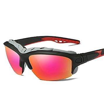 7a92d1d6d8 TIANLIANG04 Gafas De Sol Polarizadas Gafas De Sol Negro Guía De Hombres  para Hombres Amarillo Lentes Polarizados Uv400 con El Cuadro,Lente Roja:  Amazon.es: ...