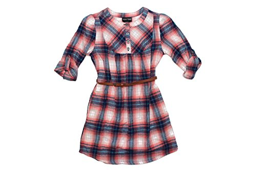 Girls Sleeve Plaid Flannel Shirt product image