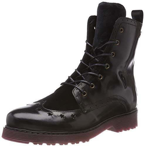 Hilfiger Boot Up Lace Femme Noir Leather 990 Rangers Black Tommy Bottes Modern BwOdHqq