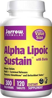 Jarrow Formulas Alpha Lipoic Sustain, Supports Cardiovascular Health, 300 mg, 120 Sustain Tabs