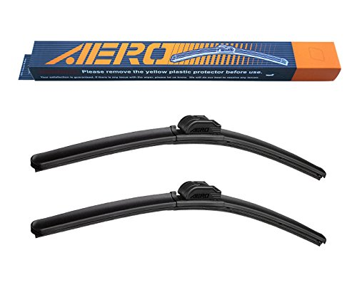 AERO Premium All-Season Beam Windshield Wiper Blades Replacement for Volkswagen VW 24