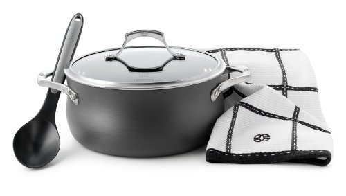 Calphalon Kitchen Towel - Calphalon Unison Sear Nonstick 5-Quart Dutch Oven Set