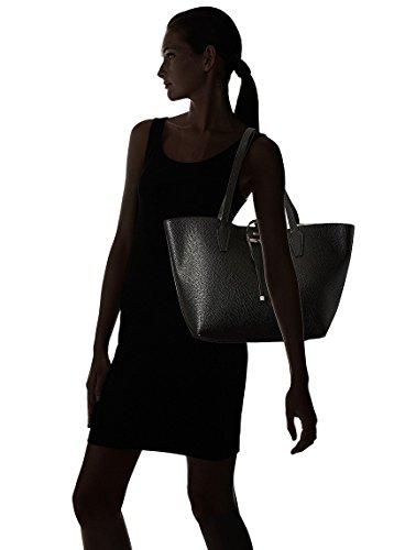 Handbag Guess Tote Bobbi Bag amp; Black White Out Inside Reversible Women's fFxfg