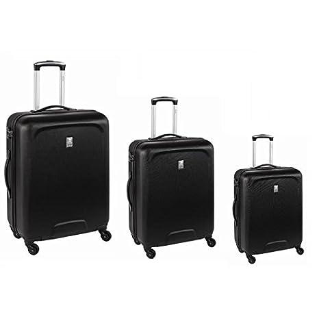 Visa Delsey Set de 3 maletas rígida ABS 4 ruedas 55 - 66 - 76 cm Space negro: Amazon.es: Equipaje