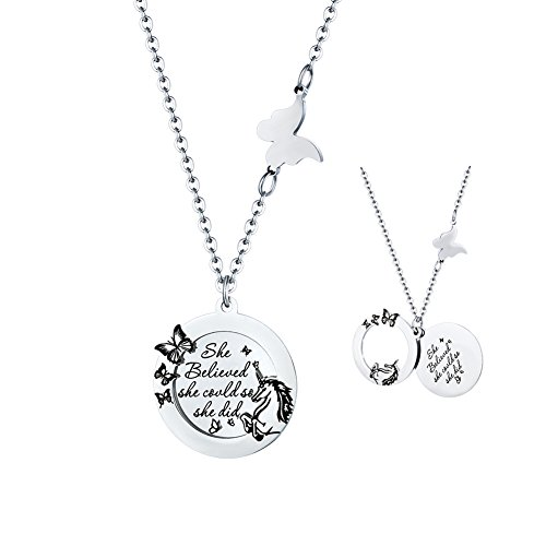 stainless steel charm necklace - 4