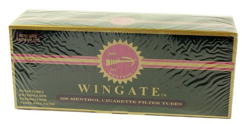 Wingate Menthol Flavored King Size Cigarette Tubes (200ct Box - 50 Cartons)