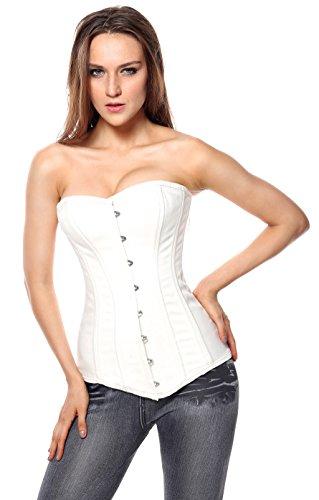 0159c2c0f4 Charmian Women s 26 Steel Boned Cotton Long Torso Hourglass Body ...