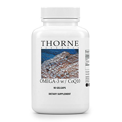 Thorne Research - Omega-3 w/ CoQ10 - Omega-3 Fatty Acids Supplement with CoQ10 - EPA and DHA - 90 Gelcaps