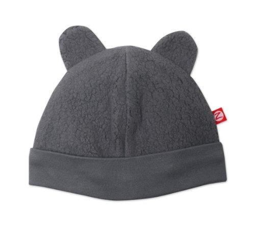 Zutano Unisex Baby Cozie Fleece Hat, Gray, 6 Months
