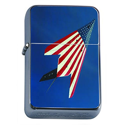 Vintage American Flag Flip Top Oil Lighter D10 Patriotic Freedom American Heroes Veterans by Perfection In Style