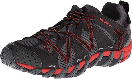 Merrell WATERPRO MAIPO Herren Bootsportschuhe, Schwarz (Schwarz/Rot), 44 EU