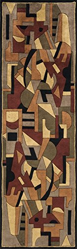Momeni Rugs NEWWANW108POM2680 New Wave Collection, 100% Wool Hand Carved & Tufted Contemporary Area Rug, 2'6