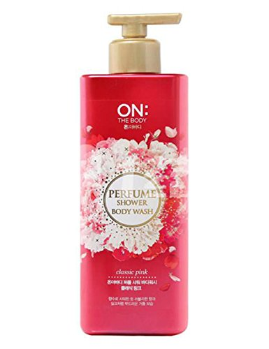 Gel Scented Perfume (ON THE BODY Perfume Shower Body Wash - Classic Pink 500g/17.6oz)