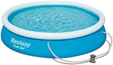 Bestway - Set de pool rápido de 12 pies con filtro y palo de pump Swimming Pool: Amazon.es: Jardín