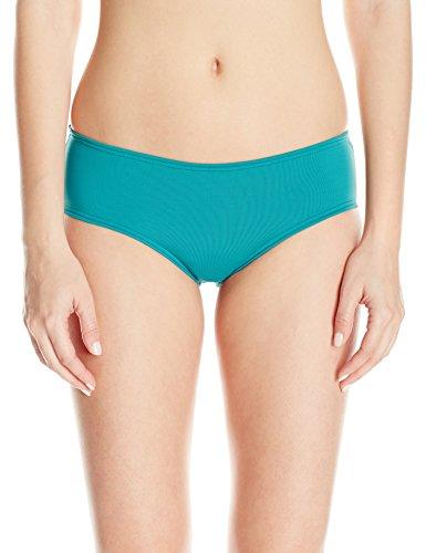 O'Neill Women's Salt Water Solids Boy Short Bikini Bottom, Emerald, ()