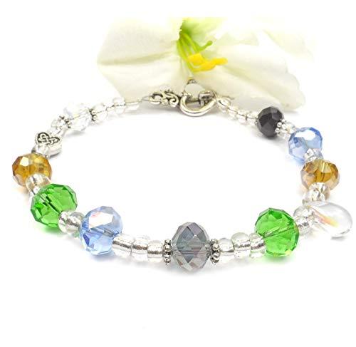 Beaded Bracelet Irish (May the Road Rise Up Irish Blessing Bracelet)