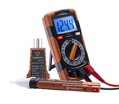 Southwire Electrical Tester : Southwire k electrical test kit digital multimeter