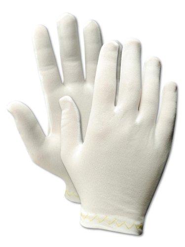 Magid 5311 CleanMaster Nylon Medium Weight Ladies Stretch Glove, Work, 10' Length, White  (One Dozen)