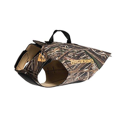 Browning 3mm Neoprene Dog Vest Dog Hunting Vest, 3mm Neoprene, Realtree Camo, Max, Medium