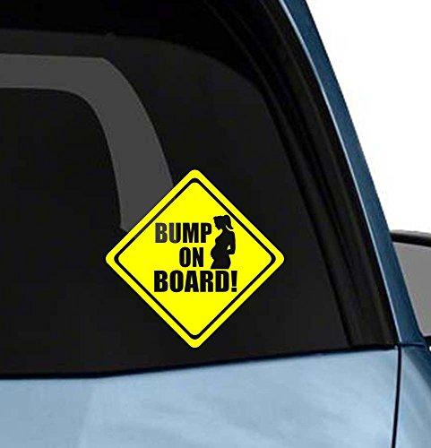 Bump on Board Cute Funny Car Window Decal Vinyl Art Bumper Sticker Die-Cut Decal