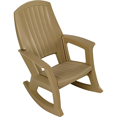 Taupe Outdoor Rocking Chair - 600-Lb. Capacity (Outdoors Rocking Chairs)