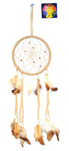 Light Brown Native American Dreamcatcher, Free Copyrighted Tibetan Mantra Fridge Magnet