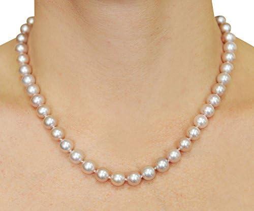 Zuchtperlen Länge 45 cm Farbe Rosa neu echte Süßwasserperlen Halskette 1 St