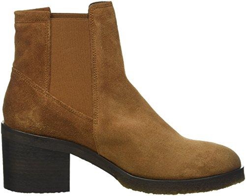 cashott A16070, Zapatillas de Estar por Casa para Mujer, Braun (Cognac Suede 55), EU 40