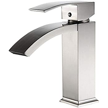 Greenspring Waterfall Bathroom Sink Faucet Cascade Single