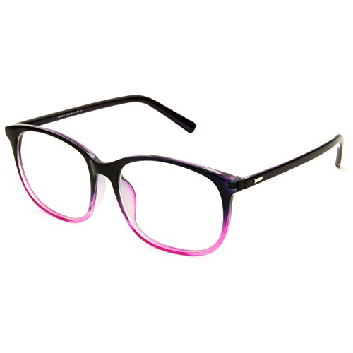 Cyxus Blue Light Filter Computer Glasses for Blocking UV Blue Ray Minimize Headache [Anti Digital Eye Fatigue] Transparent Lens, Unisex (Gradient Pink Purple)