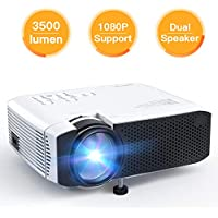 APEMAN Video 3500 Lumen HD 1080P Mini Portable Projector with Dual Built-in Speakers