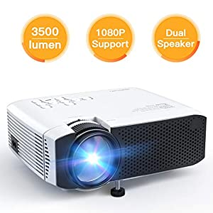 Projector APEMAN Video Mini Portable Projector 3500 Lumen with Dual Built-in Speakers