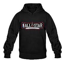 Men's Nba All Star Games Logo Toronto 2016 Hoodie- Black