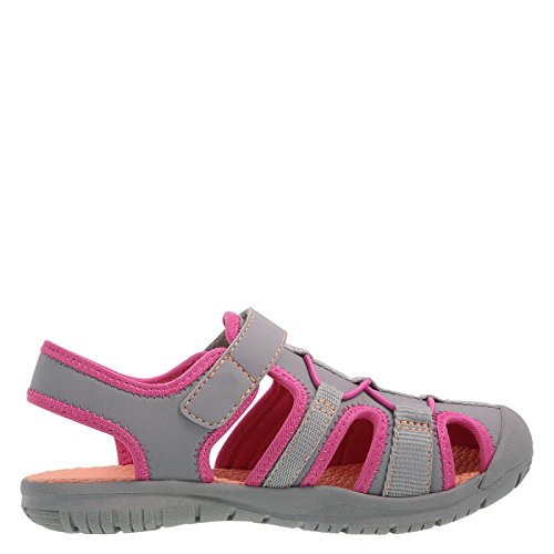 Image of Rugged Outback Grey Pink Girls' Marina Bumptoe Sandal 4 Regular