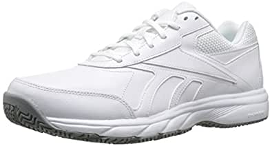 Reebok Men's Work N Cushion 2.0 Walking Shoe, White/Flat Grey, 7.5 M US