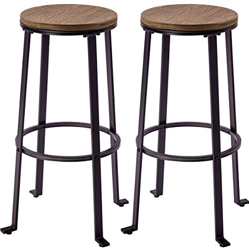 Amazon.com: Harper&Bright Designs Metal Bar Stools, Pub