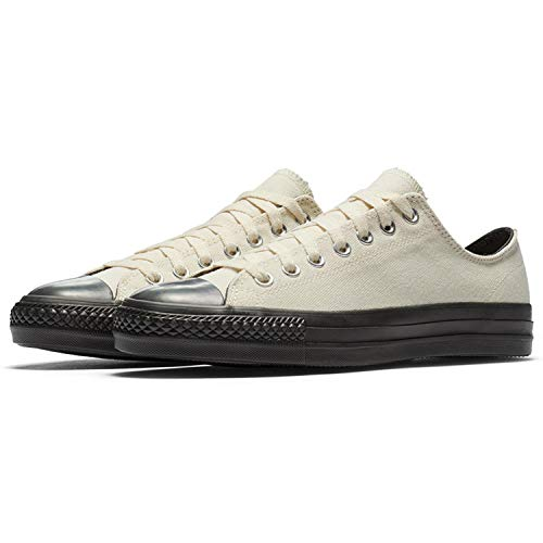 Converse Unisex Chuck Taylor All Star Low Top Sneakers (Natural/Natural/Almost Black, 10.5 M US Women / 8.5 M US Men)