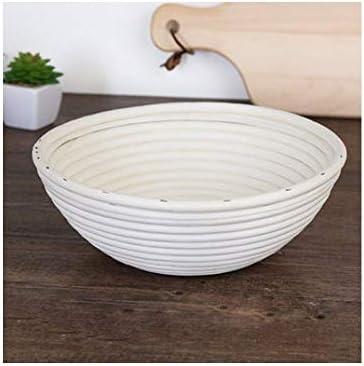 パンバスケット、手作りの籐織パンバスケット、丈夫な家庭パン発酵バスケット(白、23 * 8 Cm) (Color : White, Size : 23*8cm)